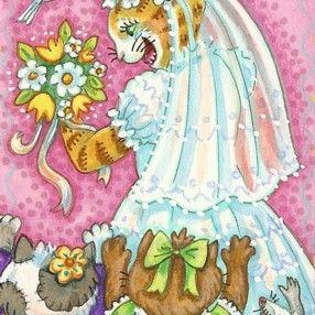 Art: ALWAYS A BRIDESMAID NEVER A BRIDE by Artist Susan Brack