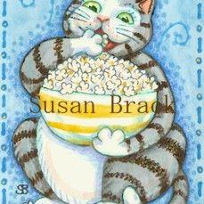 Art: CAT CARBS by Artist Susan Brack