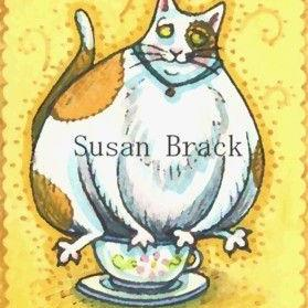 Art: TEACUP KITTY by Artist Susan Brack