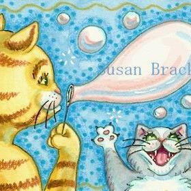 Art: BUBBLES GALORE by Artist Susan Brack