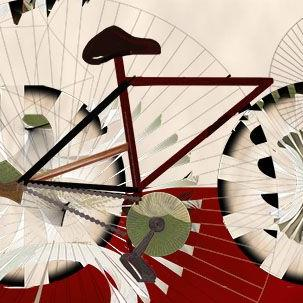 Art: Cyclostract: Bikes without Boundries by Artist Alma Lee