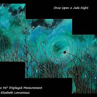 Art: Once Upon a Jade Night (sold) by Artist Amber Elizabeth Lamoreaux