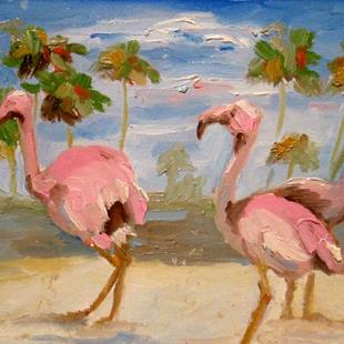 Art: Flamingo Pink by Artist Delilah Smith
