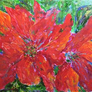 Art: Poinsettia Abstract by Artist Ulrike 'Ricky' Martin