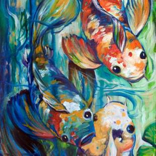 Art: KOI 3 SWISH by Artist Marcia Baldwin
