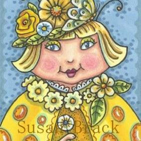 Art: SUNNY YELLOW LADYBIRD by Artist Susan Brack