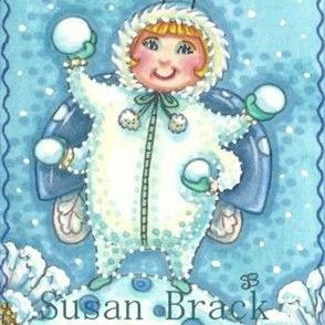 Art: SNOWBALLS N' FLURRIES by Artist Susan Brack