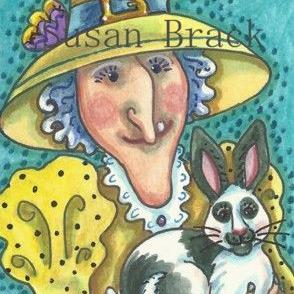 Art: GRANNY GOOD WITCH AND LUCKY FOOT by Artist Susan Brack