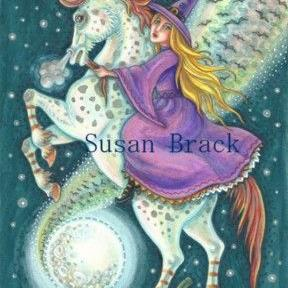 Art: WITCH'S RIDE ON A MOONSTRUCK STALLION by Artist Susan Brack