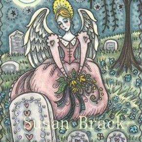Art: LOVED BY AN ANGEL by Artist Susan Brack