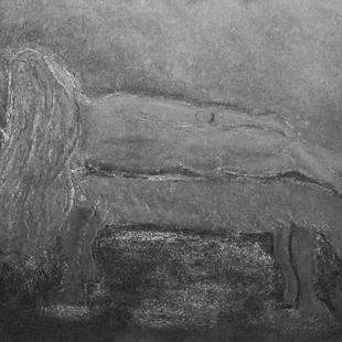 Art: Sleeping Beauty in Grey by Artist Shari Lynn Schmidt