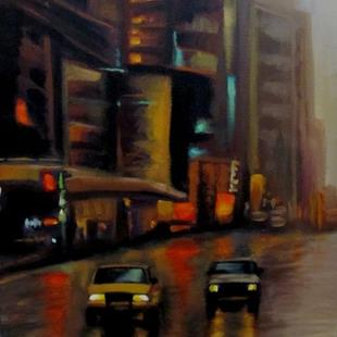 Art: City Lights by Artist Christine E. S. Code ~CES~