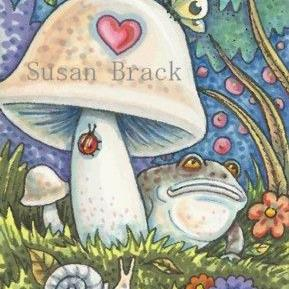 Art: A TOAD'S EYE VIEW by Artist Susan Brack