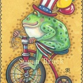 Art: HOPPY 4TH OF JULY by Artist Susan Brack