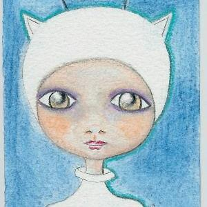 Art: Little Alien-Sold by Artist Sherry Key