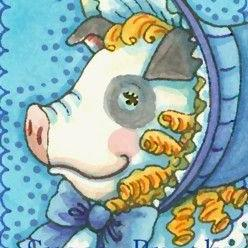 Art: SWEET SALLY SOW by Artist Susan Brack