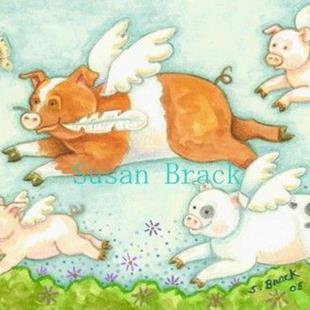 Art: WHEN PIGS FLY by Artist Susan Brack
