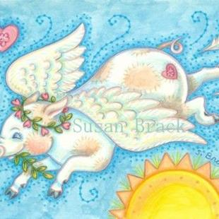 Art: WHEN PIGS FLY - Angel by Artist Susan Brack