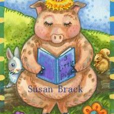 Art: READING A PIG CLASSIC by Artist Susan Brack