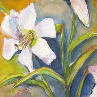 Art: Easter Lilies by Artist Delilah Smith