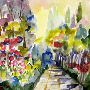 Art: Flower Path by Artist Delilah Smith
