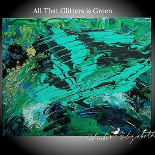 Art: All That Glitters is Green (sold) by Artist Amber Elizabeth Lamoreaux