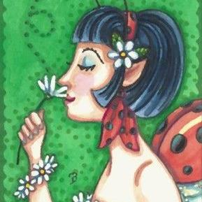 Art: A NOSE FOR DAISIES by Artist Susan Brack
