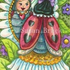 Art: DAISY LOOKING GLASS by Artist Susan Brack