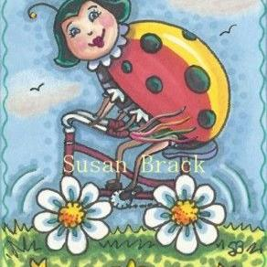 Art: RIDE ON A DAISY CYCLE by Artist Susan Brack