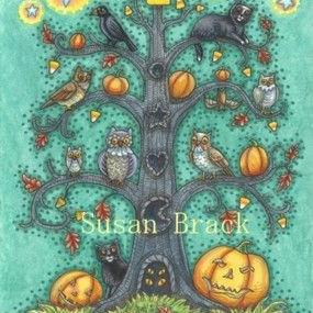 Art: THE CANDY CORN TREE by Artist Susan Brack