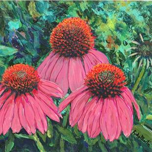 Art: Echinacea Abloom by Artist Ulrike 'Ricky' Martin