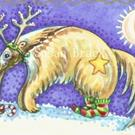 Art: SANTA'S RED NOSED REINDEER by Artist Susan Brack