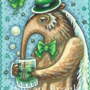 Art: WHEN ANTEATERS GO IRISH by Artist Susan Brack