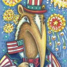 Art: PATRIOTIC ANDY by Artist Susan Brack