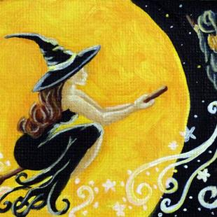 Art: Witches Night Out  (SOLD) by Artist Monique Morin Matson