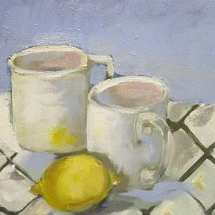 Art: Cup and Lemons by Artist Delilah Smith