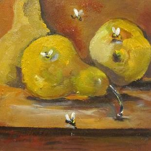Art: Pears and Bees by Artist Delilah Smith