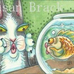 Art: Hiss N' Fitz - FISH FACES #2 by Artist Susan Brack