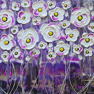 Art: Purple Rain Blossoms IV (sold) by Artist Amber Elizabeth Lamoreaux