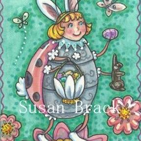Art: HOPPIN DOWN THE BUNNY TRAIL by Artist Susan Brack