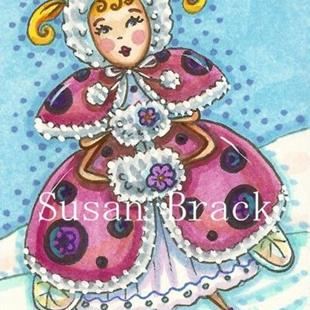 Art: LADYBIRD ON ICE by Artist Susan Brack