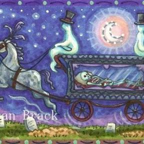 Art: RIDE FROM THE CEMETERY by Artist Susan Brack