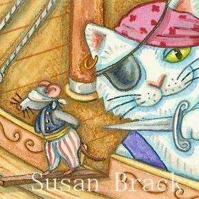 Art: WALKING THE PLANK by Artist Susan Brack