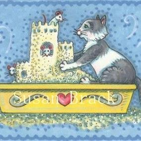 Art: CAT LITTER CASTLE by Artist Susan Brack