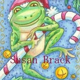 Art: CHRISTMAS FROGGY by Artist Susan Brack