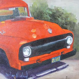 Art: Red  Truck by Artist Barbara Haviland