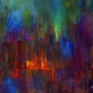 Art: City Nights by Artist Claire Bull