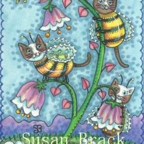 Art: BUMBLECATS BRING AN EARLY SPRING by Artist Susan Brack