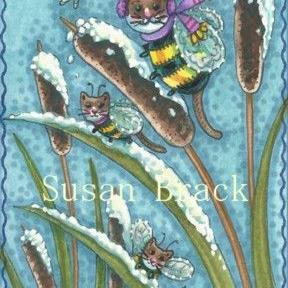 Art: BUMBLECAT WINTER by Artist Susan Brack