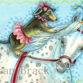 Art: DOXIE AND GRAY by Artist Susan Brack